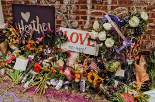 A memorial to Heather Heyer. Charlottesville, 2018