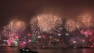 香港2017新年煙花匯演