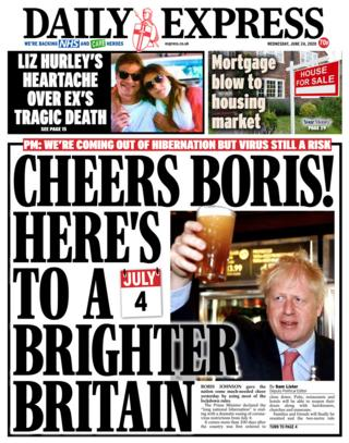The Daily Express portada 24.06.20