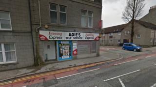 Adie's shop in Bedford Road, Aberdeen