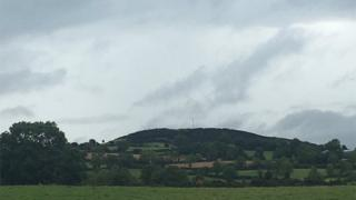 Knock Iveagh hill where the cairn stands
