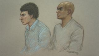 Anas Abdalla, left, and Mahamuud Diini