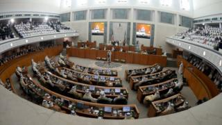 The Kuwaiti parliament pictured in 2015