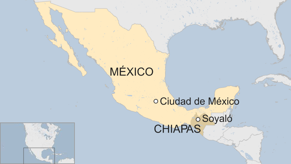 Mapa Soyaló, México.