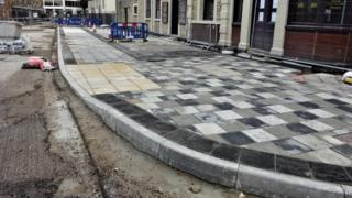 Paving before it was scraped