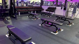 Spaced-out gym equipment