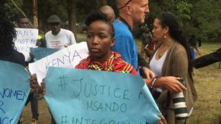 Abaharanira agateka ka kiremwa muntu mu myiyerekano i Nairobi