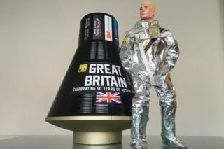 Action man astronaut and capsule