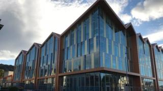 The new headquarters for Conwy council in Colwyn bay