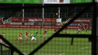 Wales face Scotland behind closed doors at Eirias Park