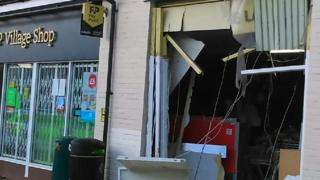 Damage at the Co-op store in Long Melford