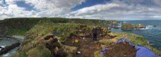 Panoramic shot of the dig site