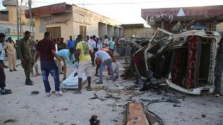 Al Shabaab iramaze kubagaba ibitero vyinshi i Mogadishu; aha ni igihe c'igitero c'igisasu mu kwezi guheze