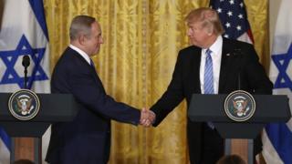 Trump ayaa Mareykanka ku casuumay Netanyahu, Ra'iisul wasaaraha Israa'iil