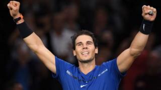 Rafael Nadal yaratsindiye ibikombe vya French Open na US Open mu mwaka wa 2017