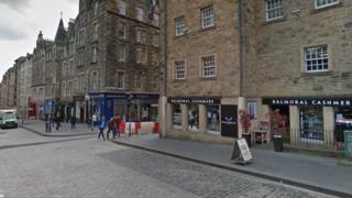 Sandwich board in Edinburgh