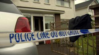 The fire service was called to the house in Millburn Avenue at about 07:15 BST on Thursday.