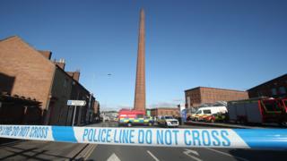 Police tape near Dixons Chimney
