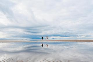 Children playing on Aberlady beach