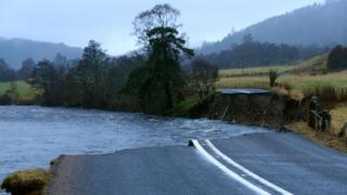 A93 collapse