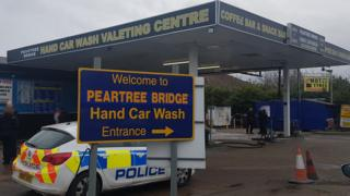 Car wash raid