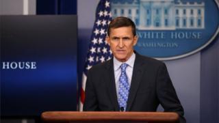 Майкл Флинн на брифинге в Белом доме 1 февраля 2017 года