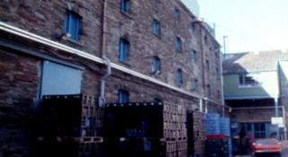 Buckley's Brewery Maltings, Llanelli pictured in 1987