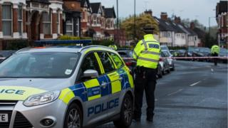 Police cordon in Willesden