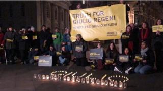 Cambridge vigil for Giulio Regeni