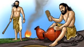प्राचीन मानवाचं कल्पनाचित्र