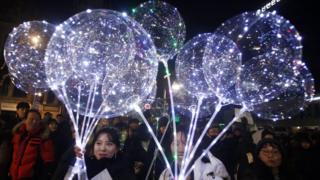 Празднование Нового года в Сеуле