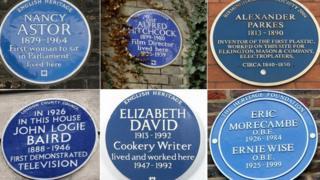 Six plaques