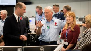 Duke of Cambridge meets police and St John ambulance staff