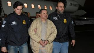 "Joaquin ""El Chapo"" Guzman arrives in Long Island, US, on 19 Jan 2017"