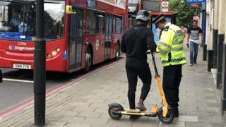 E-scooter riders stopped in Islington
