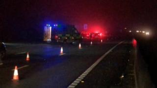 Crash on the M25 near Godstone