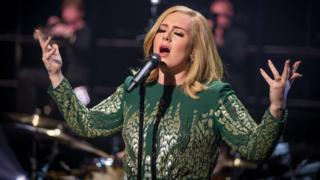 Adele performing live
