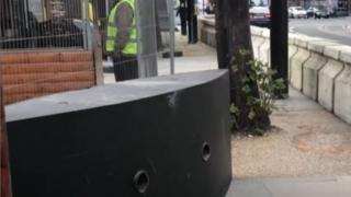 Concrete barriers have been installed around Albert Square