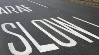 Bilingual road marking