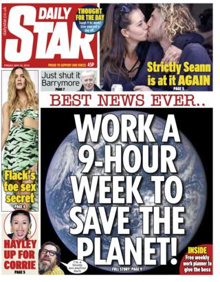 Daily Star front page - 24/05/19