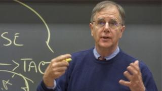 Mike Wheeler durante palestra