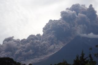Erupção do Vulcão de Fogo, na Guatemala