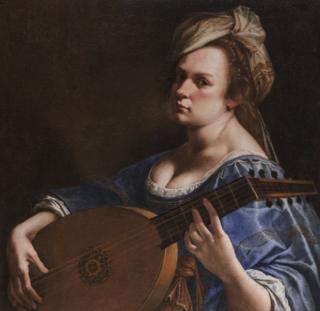 """""""Autoritratto come suonatrice di liuto"""" de Artemisia Gentileschi. 1617-18"""