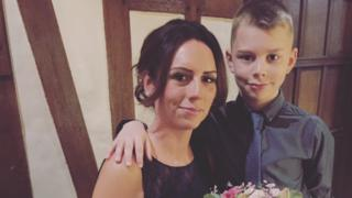 Laura Everley and her son