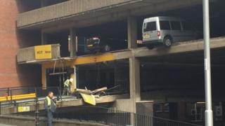Car park collapse