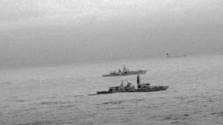 "HMS St Albans эскортирует ""Адмирала Горшкова"""
