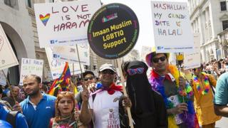 Members of Imaan at Pride in London, 2018