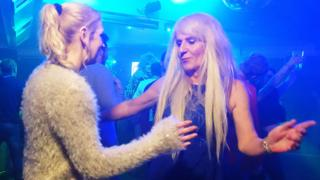 Melissa Ede dancing with fiancee Rachel