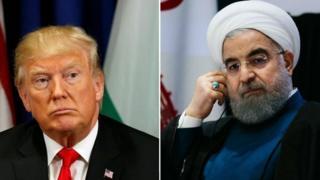 Prezida Trump na mugenzi we wa Iran Hassan Rouhani