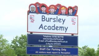 Bursley Academy sign